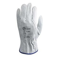 Bőrkesztyű, szürke színbőr bivaly / hasíték kézhát