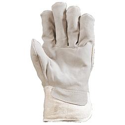 Bőrkesztyű, rezgéscsillapító betét / vászon kézhát