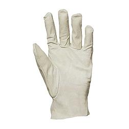 Bőrkesztyű, szürke színbáránybőr tenyér és kézhát