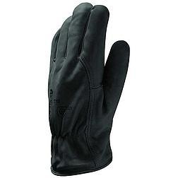 Bőrkesztyű téli bélelt, fekete borjú / thinsulate bélés