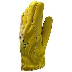Bőrkesztyű téli bélelt sárga színmarha / thinsulate bélés