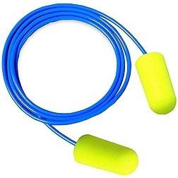 3m es-01-005 earsoft zsinóros fül-dugó, neon sárga snr 36dB