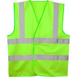 HI-VIS mellény 2 csíkkal zöld