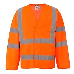Jól láthatósági vékony kabát /hosszú ujjú mellény/