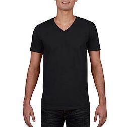 Gildan Softstyle V-nyakú - rövid ujjú, férfi póló