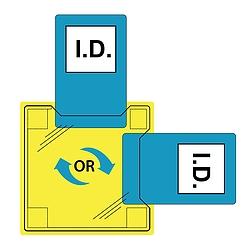 Dupla azonosítókártya tartó - varrható