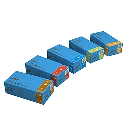 VINYLEX púderezett, vinil vizsgálókesztyű, kék