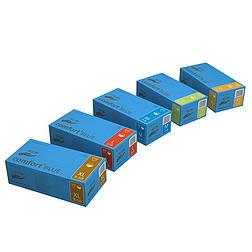 COMFORT púderezett, latex vizsgálókesztyű, kék