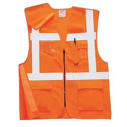 Jól láthatósági vezetői mellény vasúti dolgozók részére