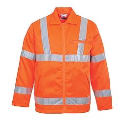 Jól láthatósági dzseki vasúti dolgozók részére (kevertszálas)