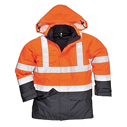 Hi-Vis Multi Protection antisztatikus és lángálló kabát
